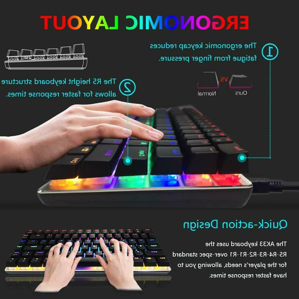 AK33 LED USB Cable Keyboard Gamers
