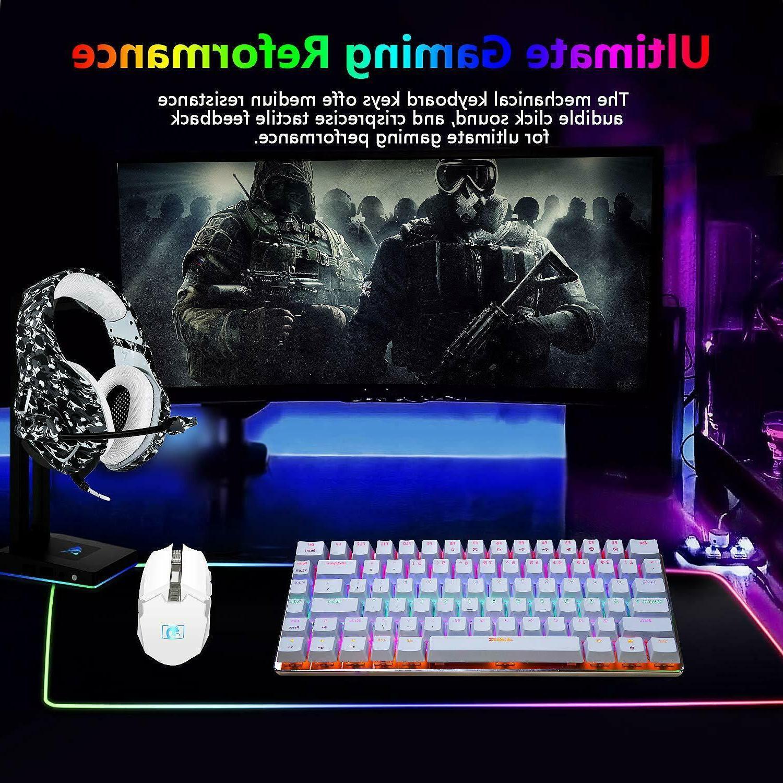 AK33 Rainbow LED Backlit USB Cable Keyboard