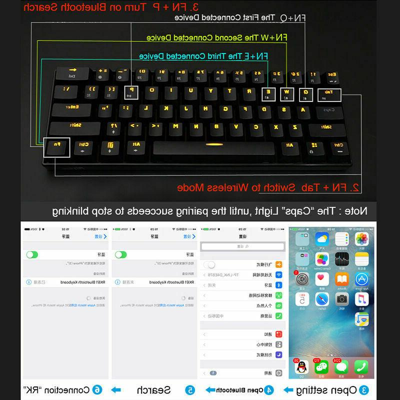 US Bluetooth Backlit Gaming Keyboard Usb