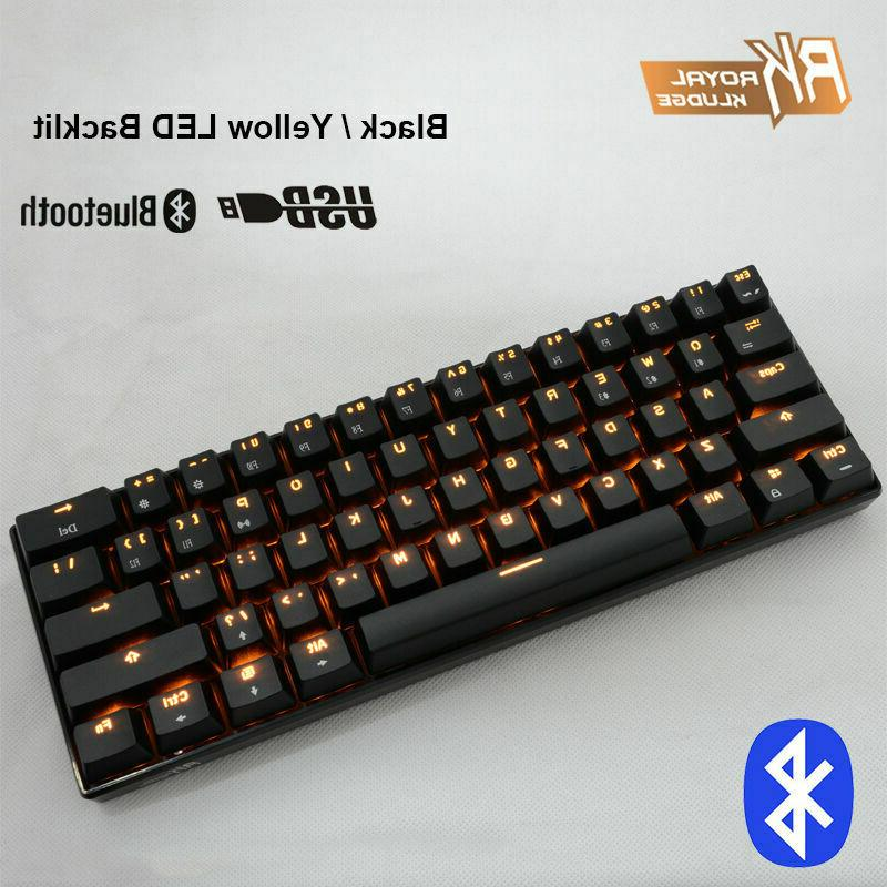 US Wireless Backlit Gaming Mechanical Usb Ergonomic