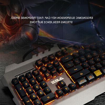AJAZZ Wired Mechanical Keyboard Backlight Waterproof S6S6