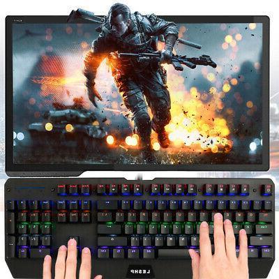 usb wired pc mechanical gaming keyboard three