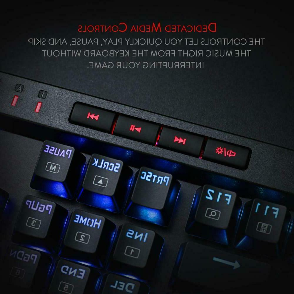 VATA Mechanical RGB Backlit Keys Anti-Ghosting Macro Key