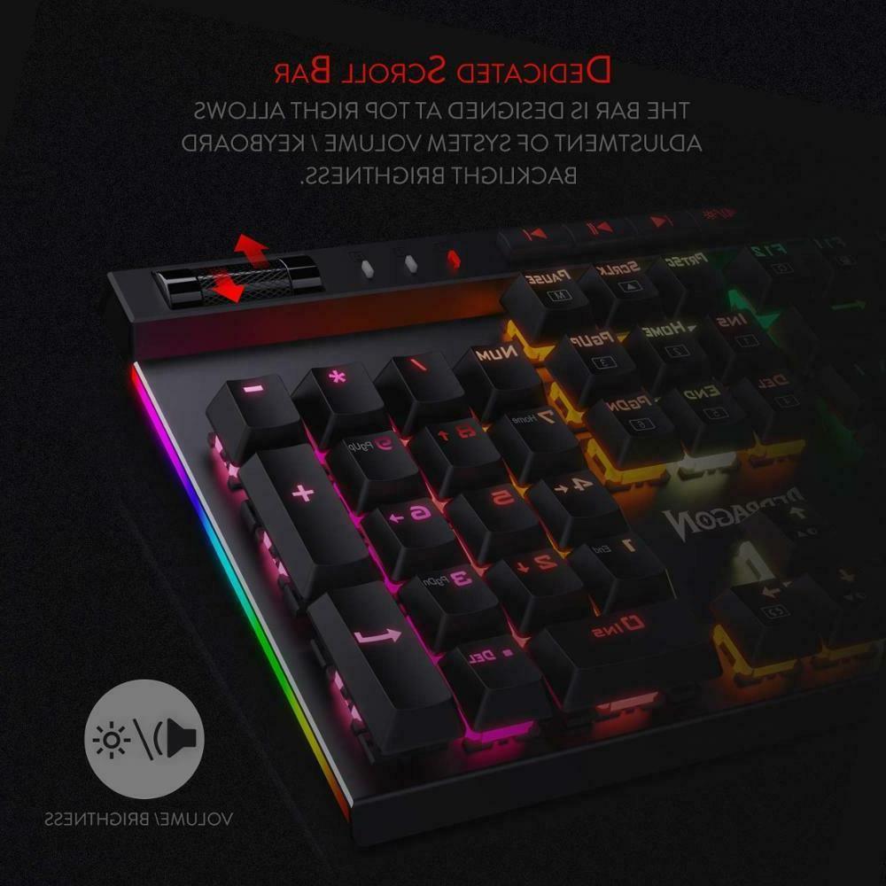 VATA RGB LED 104 Keys Anti-Ghosting Macro