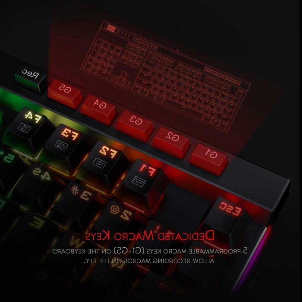VATA Mechanical RGB LED Backlit 104 Keys