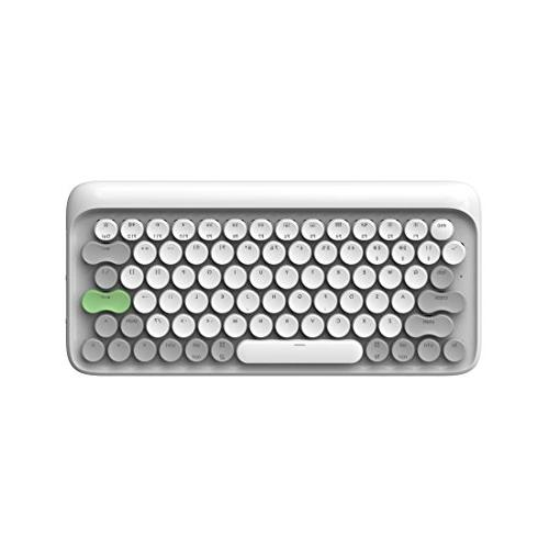 Vintage Keyboard Retro LOFREE Four Seasons Wireless Mechanical Keyboard for Mac, Android, Windows Gateron Blue and Rechargeable Battery