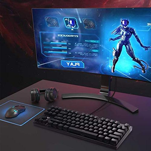 VicTsing Gaming Switches, Keys Anti-Ghosting, 12 Shortcuts, Waterproof Laptop-Black