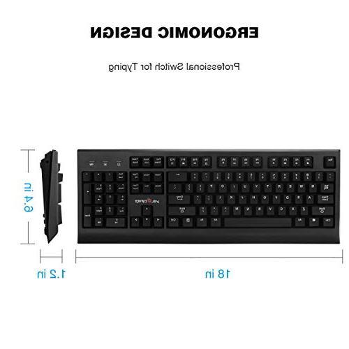 VELOCIFIRE Size Mechanical Keyboard, Outemu Brown Copywriters, Typists,