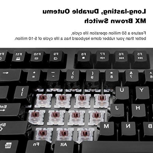 VELOCIFIRE Mechanical Outemu Brown Switches Copywriters,