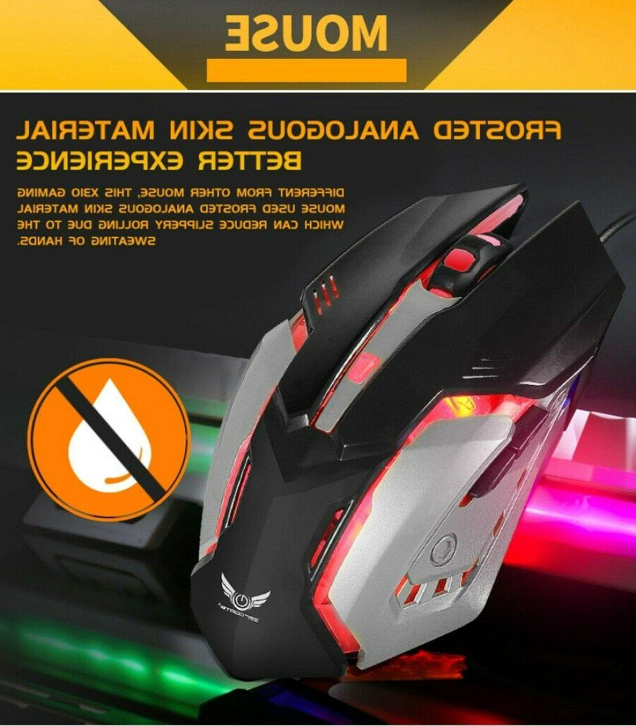 X310 Mechanical Gaming Mouse Combo Breathing