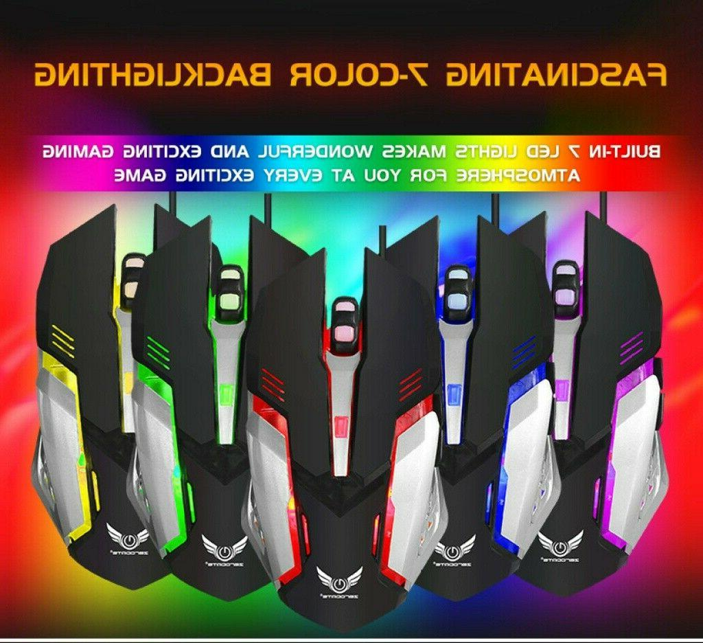 X310 Mechanical Gaming Keyboard Mouse Combo RGB Breathing