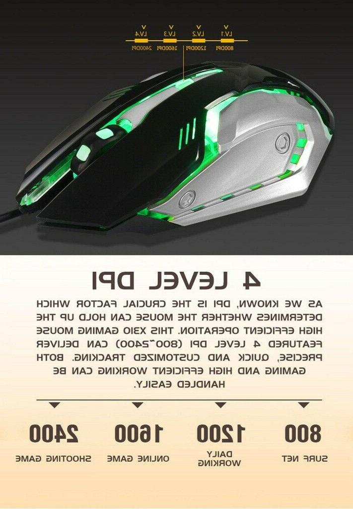 X310 Mechanical Gaming Mouse RGB Breathing