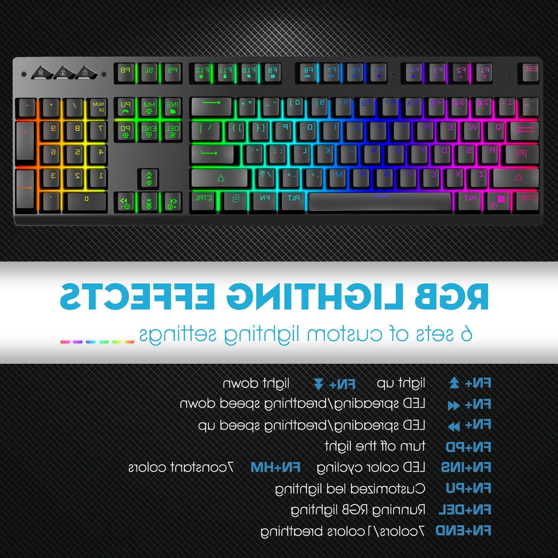 9022ec83ced ZK-P010 Gaming Keyboard Mechanical-Similar LED Backlit RGB Rainbow