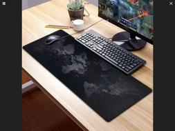 Large Extended XXL Gaming Mouse Keyboard Pad World Map Black