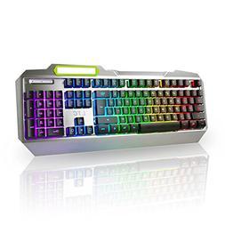 LeaningTech LTC K828 104 Key Anti-Ghosting RGB Rainbow LED B