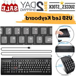 led keyboard mechanical feeling usb wired black