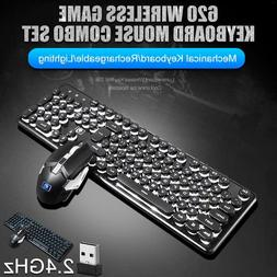 led light computer gaming keyboard and mouse