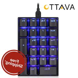 AVATTO Mechanical Blackit USB Wired Numeric Keypad / Keyboar