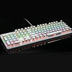 Mechanical Game Keyboard RGB LED 7-color Backlit Wired Keybo