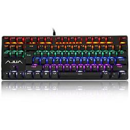 AULA F2012 Mechanical Gaming Keyboard, Water Resistant Multi