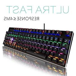 Mechanical Gaming Keyboard-Backlit Wired Gaming Keyboard-104
