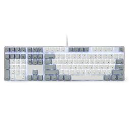 Qisan Mechanical Gaming Keyboard Crystal Case GATERON Blue S