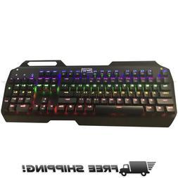 Turbot Mechanical Gaming Keyboard Ergonomic RGB 104 Key USB