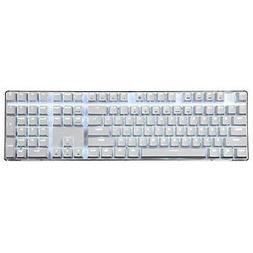 Qisan Mechanical Gaming Keyboard GATERON Blue Switch 108 Key
