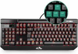 Mechanical Gaming Keyboard,Rii K61C USB Wired 104keys Anti-g