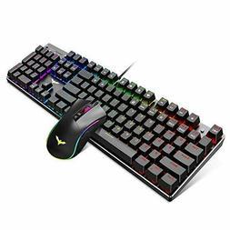 Havit Mechanical Gaming Keyboard Mouse Combo Blue Switch 104