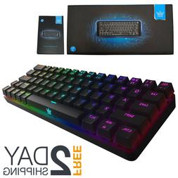 Mechanical Keyboard 60% Percent RGB Backlit Bluetooth Wired