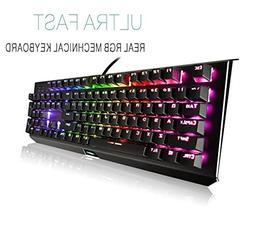 Mechanical Gaming Keyboard,Backlit Wired RGB Gaming Keyboard