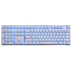 Qisan Mechanical Keyboard Gaming Keyboard Black Switch 100%