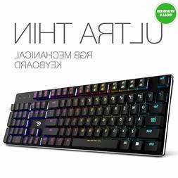 Mechanical Keyboard HAVIT RGB Backlit Wired Gaming Extra-Thi