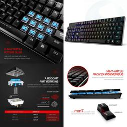 mechanical keyboard rgb backlit wired gaming extra