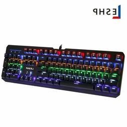 Mechanical Keyboard RGB Wired Backlit Ergonomic Gaming Keybo