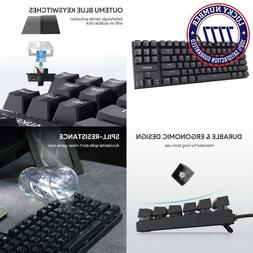 Aukey Mechanical Keyboard, Tkl Gaming Keyboard With Blue Swi
