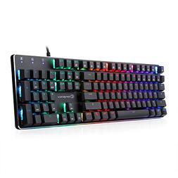 Mechanical Keyboard Wired RGB Gaming Keyboard with Brown Swi