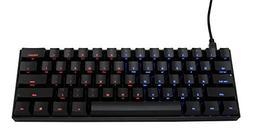 Mechanical Keyboard - KBP v60 - Black Case - Dual light Blue