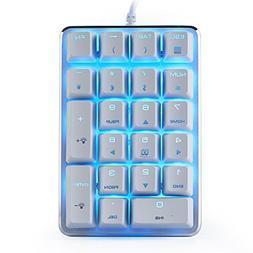 Mechanical Numeric Keypad GATERON Blue Switch Wired Ice Blue