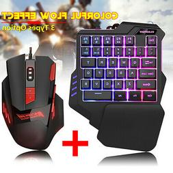 Mechanical One-handed Keyboard & Mouse Hand Game Artifact Le