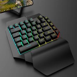 Mechanical RGB Backlit Light Keyboard Wired USB 39 Key One-H