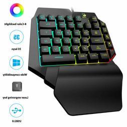 Mechanical RGB Backlit Light Keyboard Wired USB 35 Key One-H