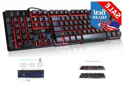 Mechanical Working Prime Gaming Wired Keyboard lit 3 Colors