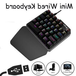 Mini Gaming Keyboard Mechanical Keypad One Single Hand With