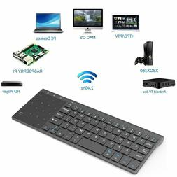 Mini Keyboard with Numbers Thin 2.4GHz USB WirelessTouchpad