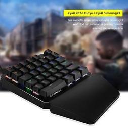 Mini Single Hand Mechanical Gaming Keyboard Backlit 35Keys B