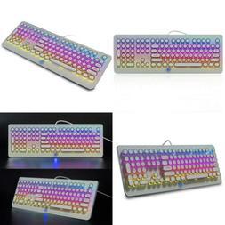 MK9 RGB Mechanical Keyboard RGB Retro Gaming Keyboard-Blue S