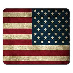 Fashion Mouse Mat USA America Flag Customized Rectangle Mous