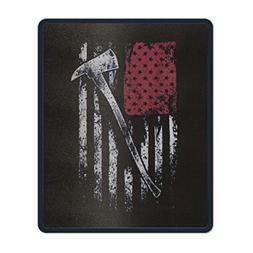 Mouse Pads USA Flag Firefighter Theme Computer Mouse Mat- St